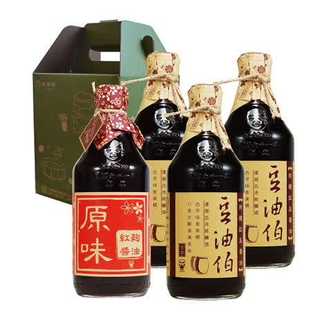 【豆油伯】一手好醬盒(缸底醬油X3+紅麴醬油X1)