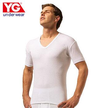 YG純棉羅紋U領短袖內衣(M~XL)