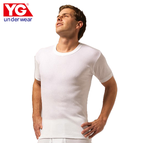 YG純棉羅紋圓領短袖內衣 M~XL