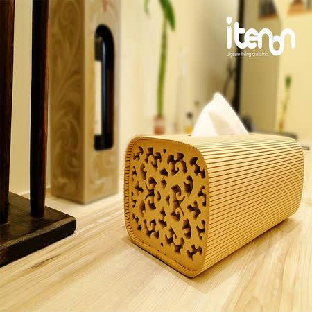 itenon洛可可古典面紙盒-方型側雕風格