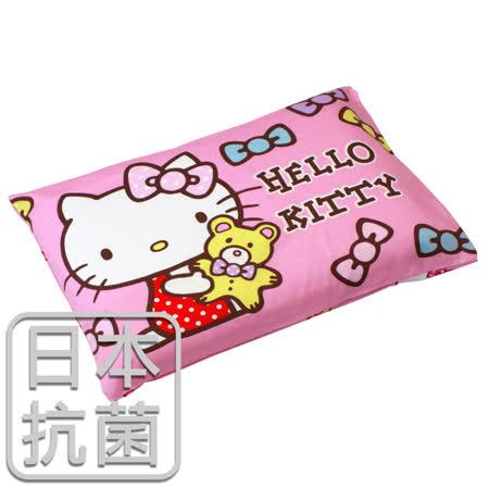 【鴻宇HongYew】Hello Kitty兒童標準乳膠枕-哈尼小熊(粉)