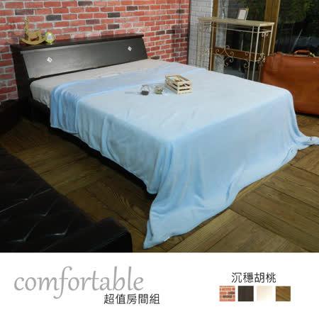 艾麗卡床箱型2件房間組-床箱+床底(四色)