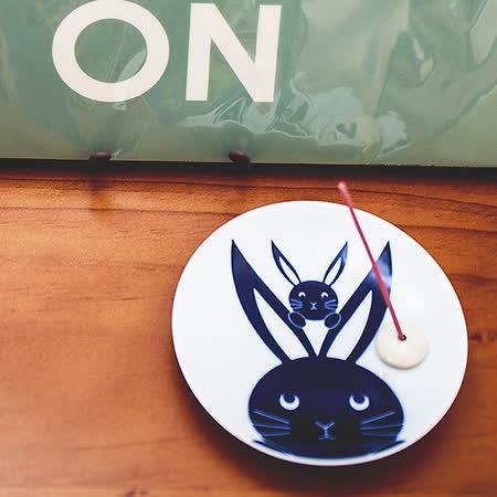 日本有田燒  親子兔 和風香皿組