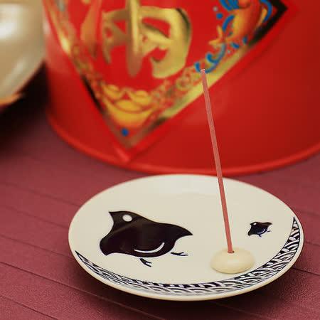日本有田燒   傳統紋樣和風香皿組 ( 波千鳥 )