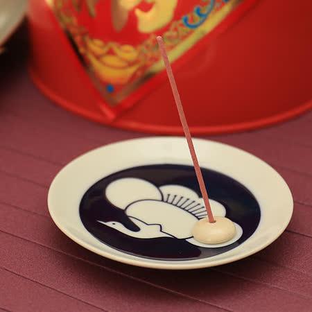 日本有田燒   傳統紋樣和風香皿組 ( 梅鶴 )