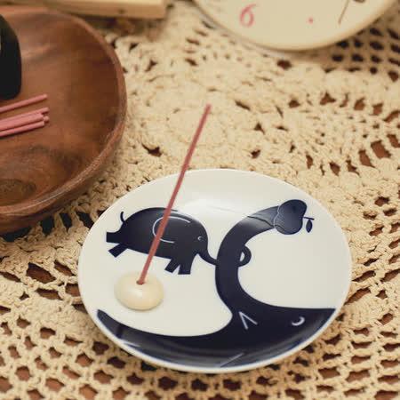 日本有田燒 親子象 和風香皿組