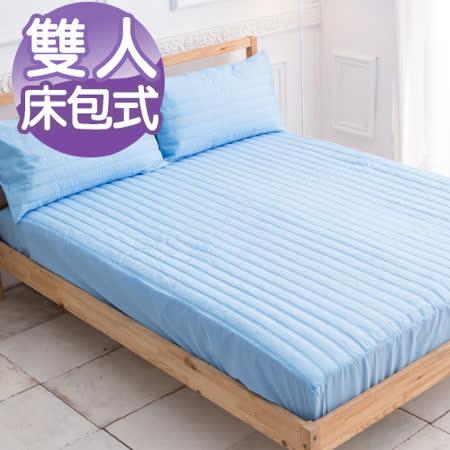 J-bedtime【蘭花果漾】99%防水雙人床包式保潔墊