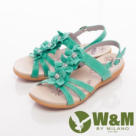 W&M (女)美麗三花扣環式涼鞋女鞋-綠