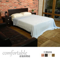 HAPPYHOME 喬伊絲床片型4件房間組-床片+床底+床頭櫃1個+床墊1WG5-22W+GA14-5四色可選