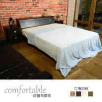 HAPPYHOME 喬伊絲床箱型4件房間組-床箱+床底+床頭櫃1個+床墊1WG5-48W+GA14-5四色可選