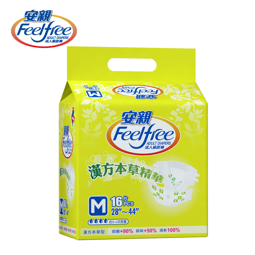 【安親】漢方草本型成人紙尿褲-超值經濟包 M-L號 (16+1)片*6包/箱(共102片)