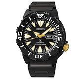 SEIKO Prospex 深海潛龍200米機械腕錶-IP黑 4R36-01J0K(SPR583J1)
