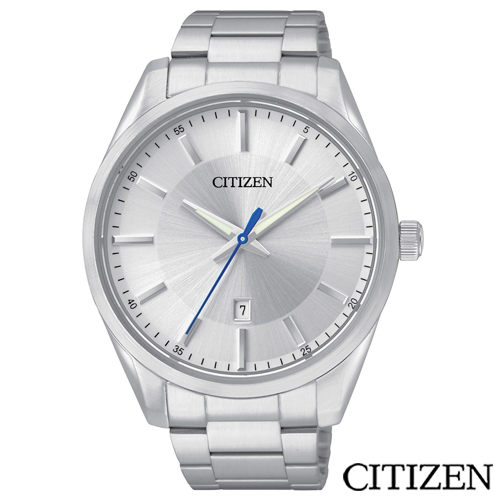 CITIZEN星辰 菁英 男性石英腕錶~白 BI1030~53A