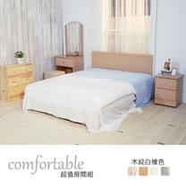 HAPPYHOME 伊芳床片型4件房間組-床片+掀床+床頭櫃1個+鏡台1WG5-37O+ZU5-7TCR二色可選-不含床墊