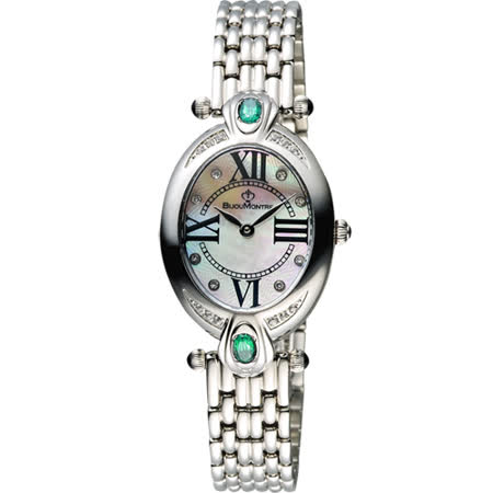 BijouMontre 寶爵 Elysee愛戀之心限量鑽錶-綠拓帕石/26mm A12080