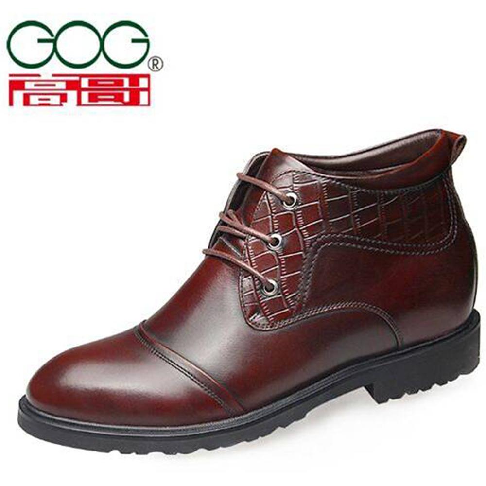 201512新品GOG高哥正裝系帶棉鞋915297增高6.5CM