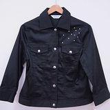 日本CIELO 現貨-水鑽裝飾個性休閒外套(黑色/M)
