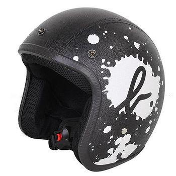 agnes b. SPORT b. logo皮質潑漆安全帽 黑139998-35