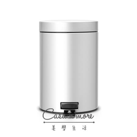 Brabantia 時尚垃圾桶 腳踏式垃圾桶 3L 金屬灰 (賓士鋼材) 比利時製造