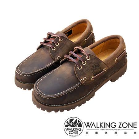 WALKING ZONE (女)經典復刻雷根鞋小牛皮手工男女款-棕