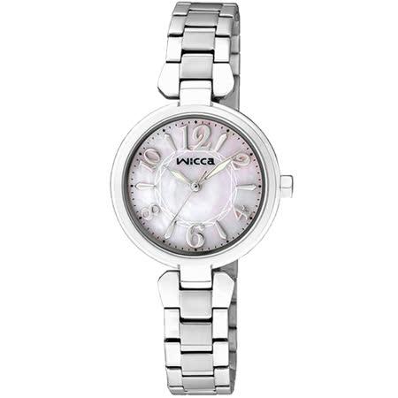 CITIZEN wicca 魔幻佳人甜心公主腕錶-珍珠貝x銀/26mm BG3-813-11