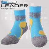 LEADER COOLMAX透氣排汗 戶外健行 中低筒機能運動襪 藍色