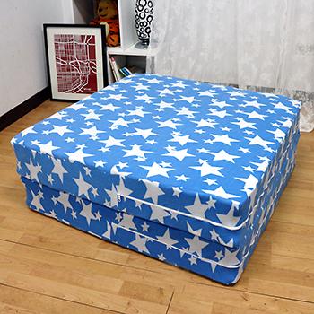 【KOTAS】珊瑚絨2折彈簧床(單人3尺)