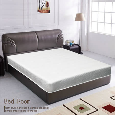 【愛麗娜】高碳鋼輕鬆睡彈簧雙人加大床墊(雙人6尺)