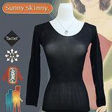 日本 Sunny Skinny 光電子彈性恆溫保暖衣 (黑色9分袖)