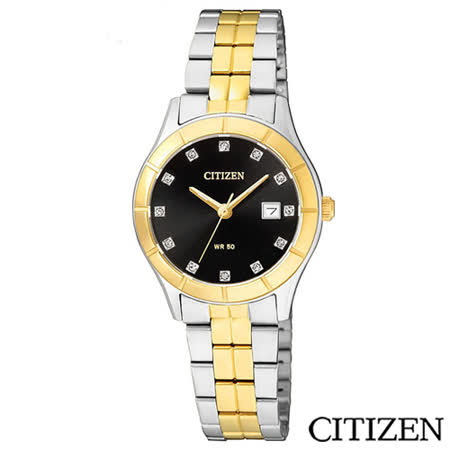 CITIZEN星辰 華麗金色元素典藏女仕腕錶 EU6044-51E