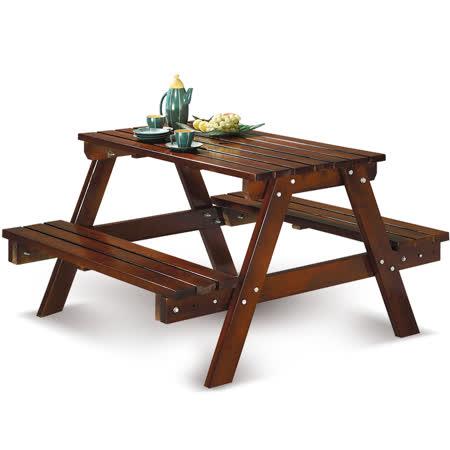 椅吧 戶外庭院休閒實木大桌椅組