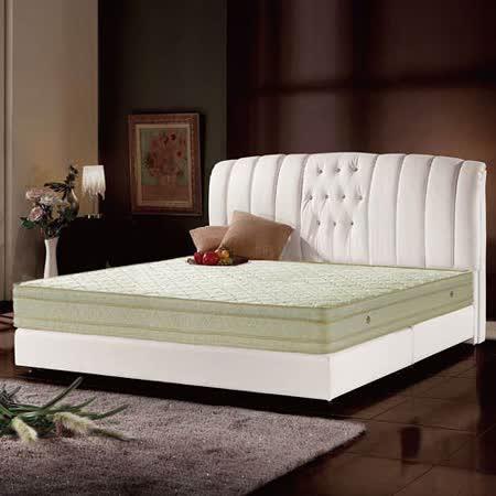 【愛麗娜】德式天然乳膠舒柔緹花四線獨立筒床墊(雙人加大) 6x6.2尺