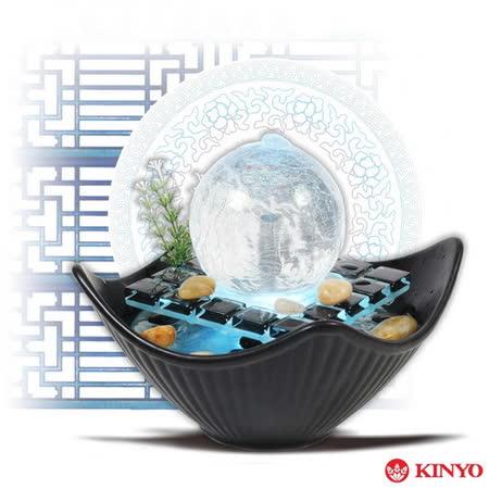 【KINYO】時來運轉-光影玻璃(GAR6005)