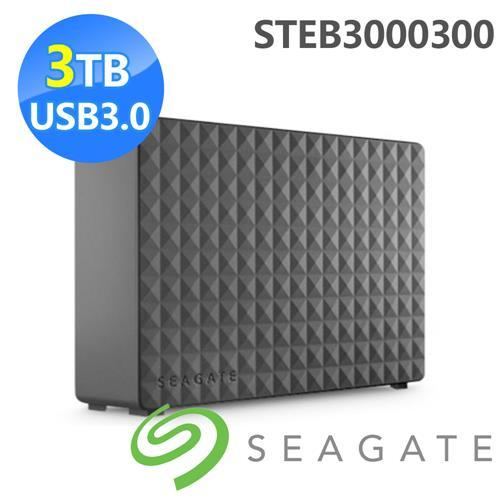 Seagate Seagate 新黑鑽 3TB USB3.0 3.5吋行動硬碟 STEB3