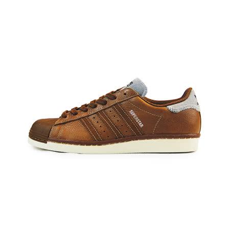 (男)ADIDAS SUPERSTAR 80S VARSITY JACKET P 復古鞋 咖啡-B25566