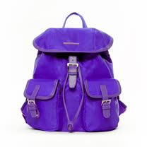 Admiral 簡約休閒口袋後背包-紫