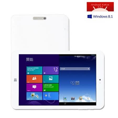 無雙戰神 32GB Win10 / 安卓WIFI 8吋 雙系統切換 Intel四核心平板電腦