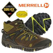 【美國 MERRELL】男新款 ALLOUT BLAZE MID GORE-TEX 多功能中筒登山健走鞋/郊山鞋_咖啡 32765