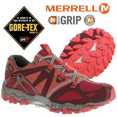 【美國 MERRELL】女新款 Grassbow Sport Gore-Tex 專業防水透氣登山健行鞋_紅色 ML32520