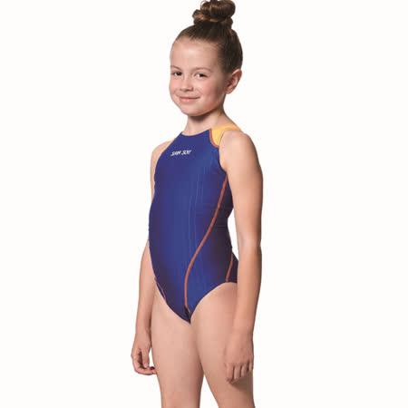 【SAIN SOU】女童競賽型泳裝附泳帽A87403-05