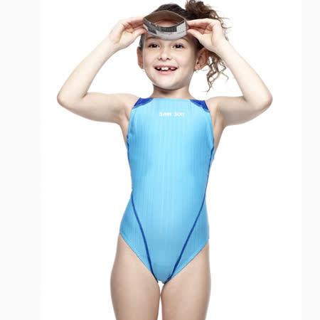 【SAIN SOU】女童競賽型泳裝附泳帽A87403-06