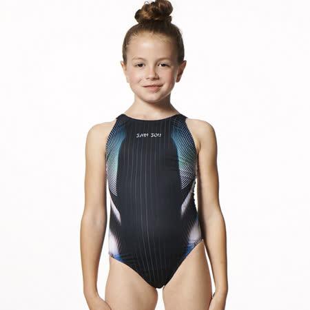 【SAIN SOU】競賽/泳隊女童連身三角泳裝附泳帽A87407-02