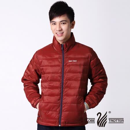 【遊遍天下】中性款防風防潑水保溫科技棉外套A017磚紅