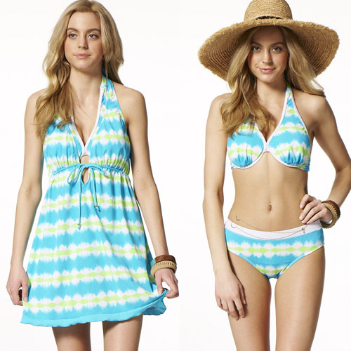 【SARBIS】大女三件gohappy 快樂 購物 網式比基尼泳裝附泳帽B93519