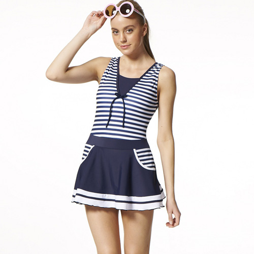 【SARBIS】MIT大女連身裙泳裝附新光 三越 台南 中山 店泳帽B98519-02