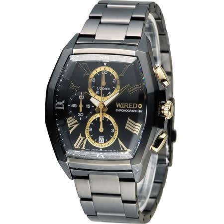 WIRED 耶誕限定計時腕錶 7T92-0TV0SD AGAV797J 黑x金