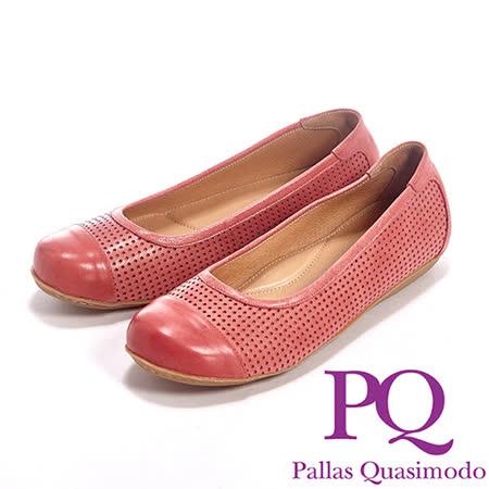 PQ(女)素面鏤口洞洞設設計休閒內增高鞋女鞋-紅