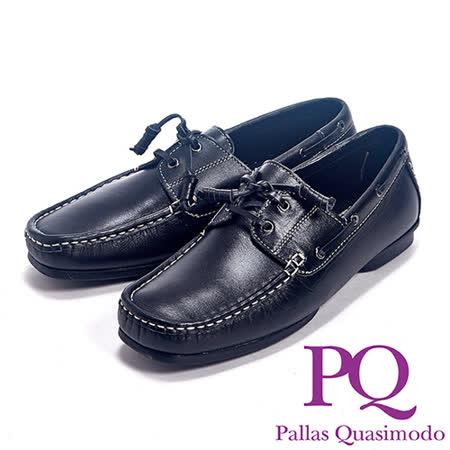 PQ(男)英倫風帆船設計休閒鞋男鞋-黑