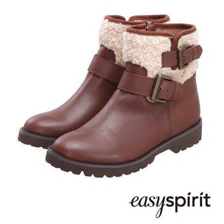 【真心勸敗】gohappy快樂購Easy Spirit 率性條帶設計保暖毛料拼接短筒靴--率性咖評價怎樣中 壢 太平洋 sogo