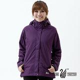 【遊遍天下】女款JIS90%羽絨禦寒中長版羽絨外套A067深紫